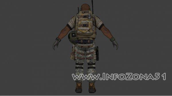 Пак скинов да команду теров Arctic Combat_usa