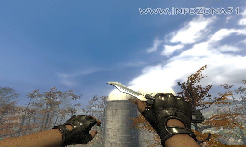 """Нож """"Бабочка"""" csgo + новые анимации и перчатки."""