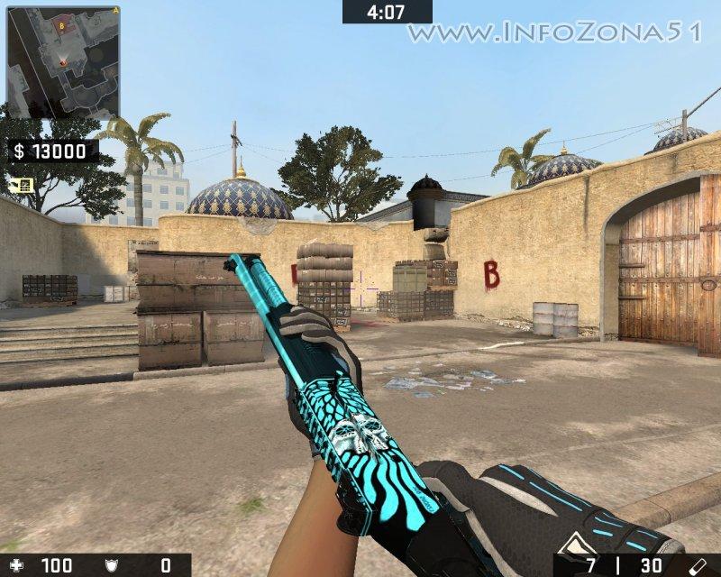 XM1014 Necromancer (Frost) [StatTrack+Gloves]