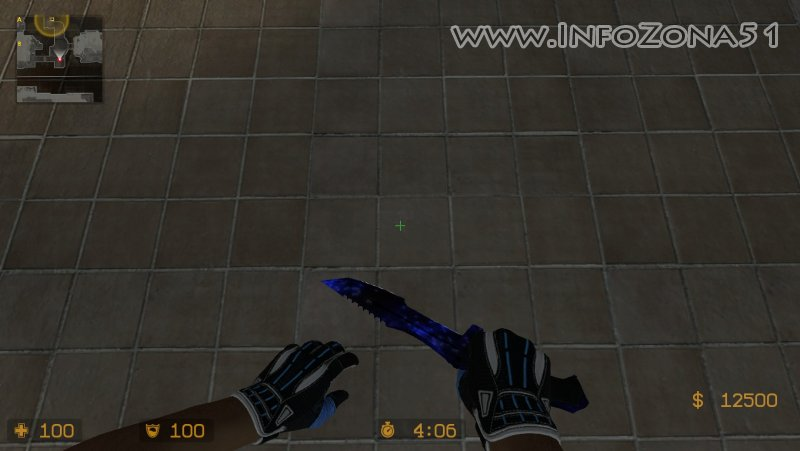 AK47 Vulcan+Hustman Knife, с подсветкой в темноте.