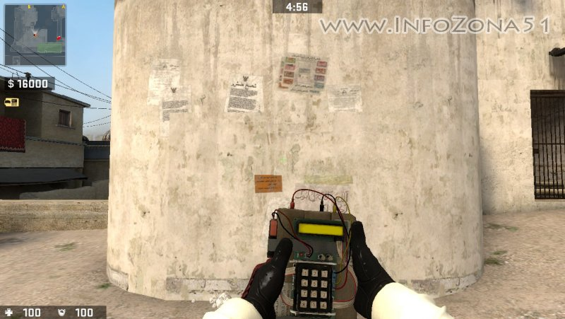 C4 CSGO (Professional Hands+Driver Gloves) By Дэнмен