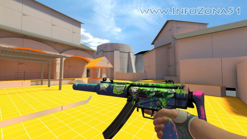 MP5-SD Phosphor (Handwraps Gloves Duct Tape) By Дэнмен V90