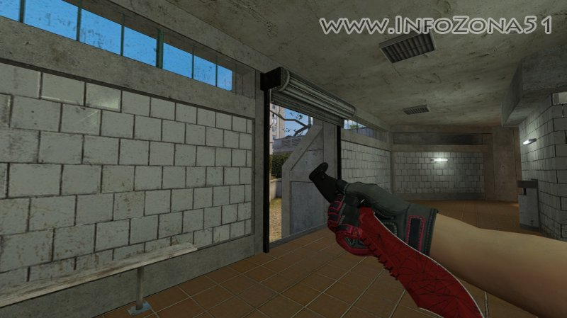 Bowie Knife Crimson Web (Specialist Gloves Crimson Kimono) By Дэнмен V90
