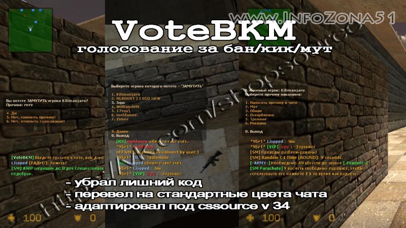 VoteBKM (Голосование за бан/кик/мут) 1.0.6 для м34