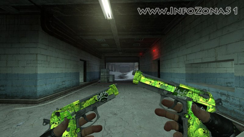 Dual-Berettas Nuclear Garden (Professional Emerald) By Дельта